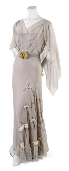 4: A French Couture Pale Blue Day Dress,
