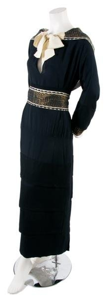 5: A French Couture Navy Dress,