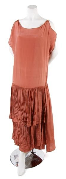 12: A French Couture Mauve Silk Dress,