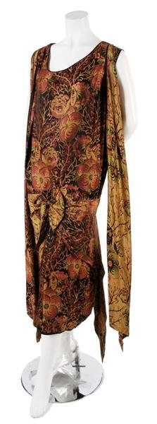 20: A French Couture Woven Silk Dress,