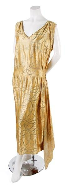 22: A Gold Brocade Dress,
