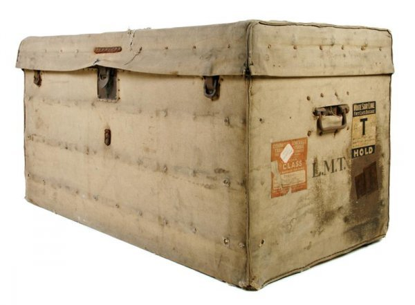 24: A Louis Vuitton Steamer Trunk, 40 x 21 x 23 inches.