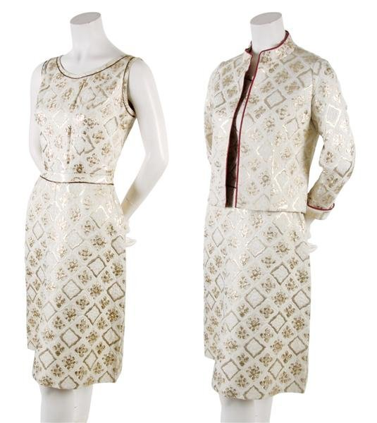 121: A Chanel Couture Gold Brocade Dress and Jacket,