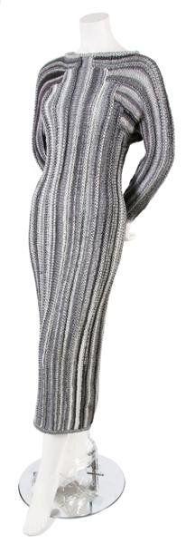 A Joan Vass Grey Sweater Dress,