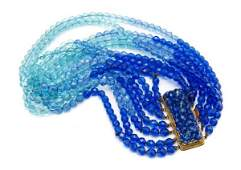 531 A Coppola e Toppo Blue Crystal Necklace