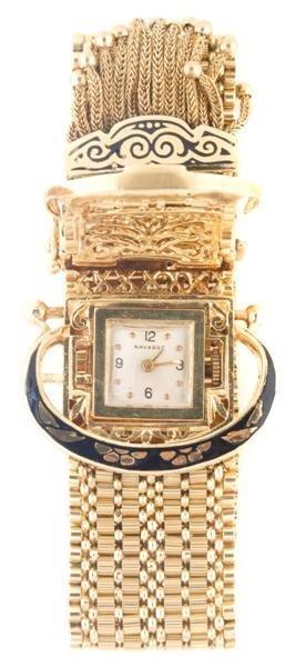 A 14 Karat Yellow Gold Bracelet Watch, Navarre, 41.00 d