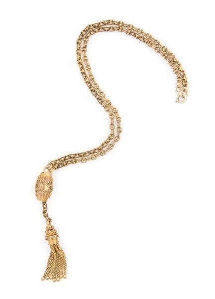 A 15 Karat Yellow Gold Necklace, 10.70 dwts.