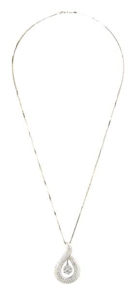 An 18 Karat White Gold and Diamond Pendant, 4.30 dwts.