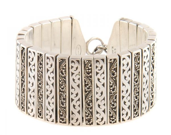 A Sterling Silver Bracelet, Lois Hill, 138.23 dwts.