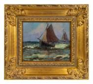 Hedwig Lindenberg (German, 1866-1951) Sail Boats on