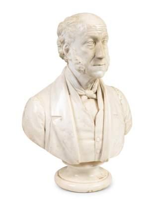 John Denton Crittendon (English, 1834-1877) Bust of Mr.