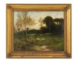 Jules Mersfelder (American, 1865-1937) Woodland Meadow