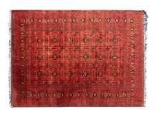 A Bokhara Wool Blend Rug 11 feet 5 inches x 8 feet 5
