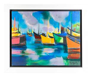 Marcel Mouly (French, 1918-2008) Marine aux Nuages