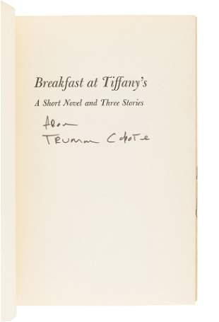 CAPOTE, Truman (1924-1984). Breakfast at Tiffany's. New