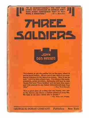 DOS PASSOS, John (1896-1970). Three Soldiers. New York: