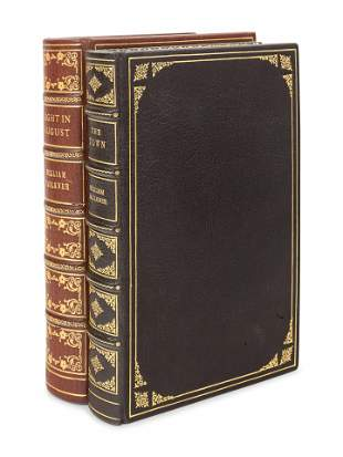 FAULKNER, William (1897-1962). Two works finely bound,