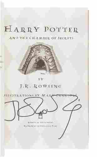 ROWLING, J.K. Harry Potter and the Chamber of Secrets.