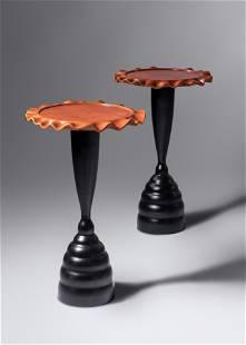 Peter Dudley (b. 1962) Pair of Pedestal Tables, 2001