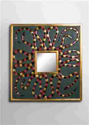 Judy Kensley McKie (b. 1944) Snake Mirror, 1993