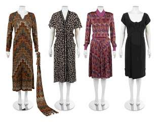 Four Vintage Dresses: One Chloe, One Irene, Two