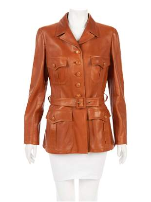 Chanel Lambskin Leather Safari Jacket, Fall, 1996