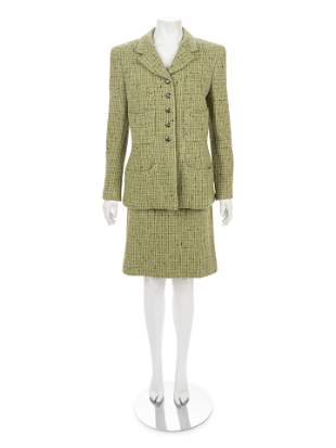 Chanel Tweed Two-Piece Skirt Suit, Fall 1997