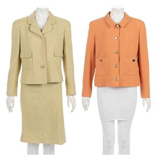 Three Chanel Pieces: One Two-Piece Skirt Suit, One