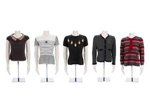 Five Chanel Knit Top Pieces, ca.1995-2005