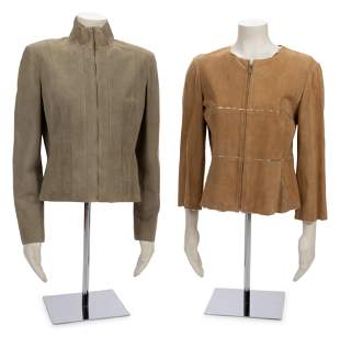 Two Chanel Suede Jackets, 2000-2003