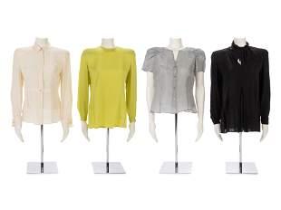 Four Giorgio Armani Silk Blouses