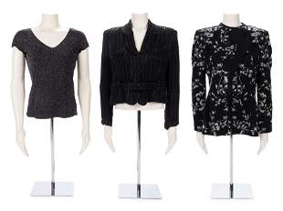 Three Armani Tops: Two Jackets and One Knit Top