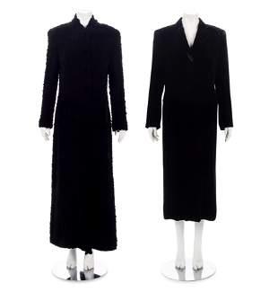 Five Designer Coats: Four Giorgio Armani, One Salvatore