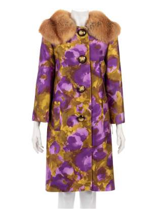 Michael Kors Swing Coat Trimmed with Fox Fur, Fall 2008