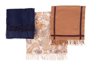 Three Loro Piana Cashmere Scarves