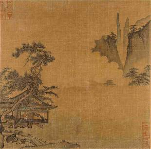 Five Loose Album Leaves Depicting Landscapes, Birds and