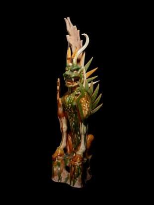 A Sancai Glazed Pottery Figure of an Earth Spirit
