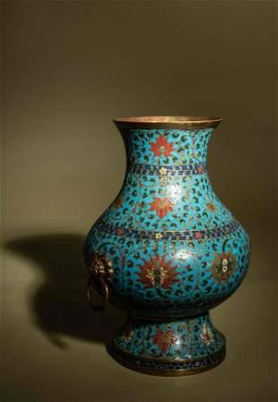 A Cloisonné Enamel Hu Vase