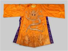 An Embroidered Silk Theatrical 'Dragon' Robe