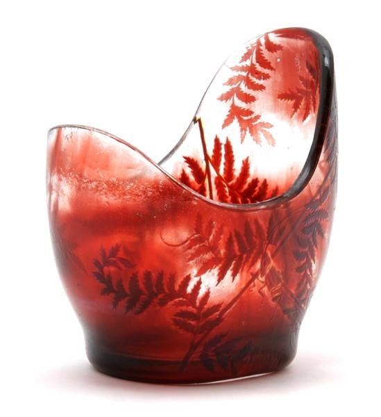 6: A Galle Cameo Glass Vase, Height 5 1/2 inches.