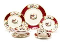 238: An English Ceramic Dinnerware Service for Six, Myo