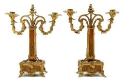 467 A Pair of French Gilt Bronze Mounted Art Nouveau C