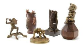 656 A Collection of Bronze Figures Height of tallest