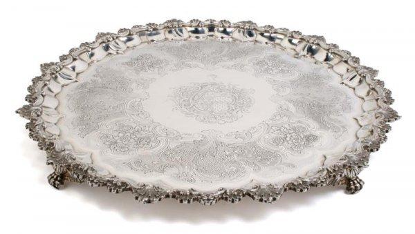 705: An English Silver Salver, William Fountain, Diamet