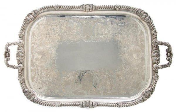 706: A George III Silver Tray, Matthew Boulton, Width o
