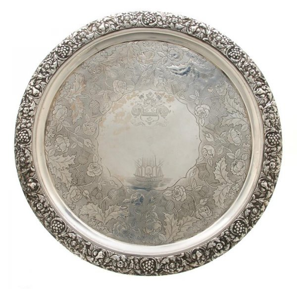 708: A Scottish Silver Salver, George McHattie, Diamete