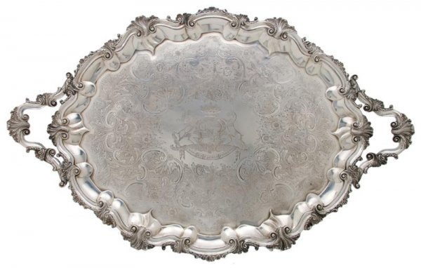 710: A George IV Silver Tray, John Angell, Width over h