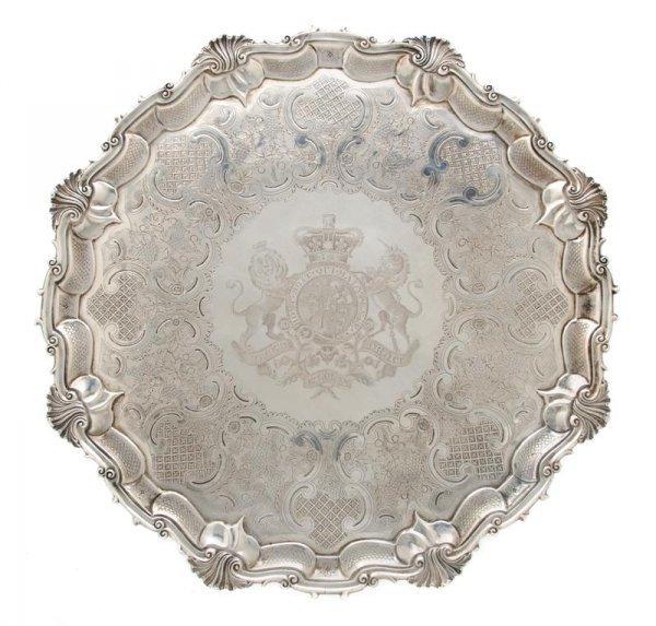 713: A George IV Silver Salver, Barak Mewburn, Diameter
