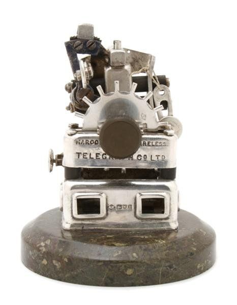 723: A Silver Marconi's Disc Discharger Lighter, Height