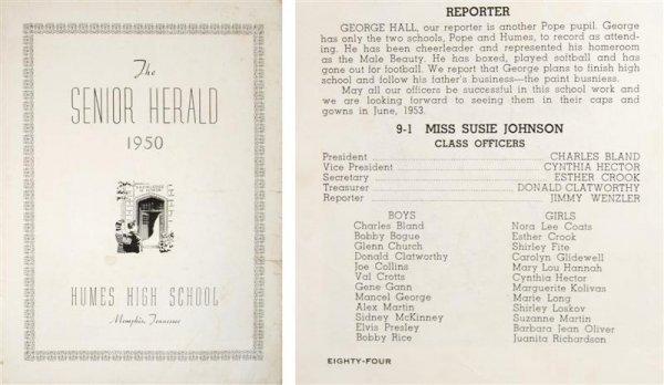 3: Elvis Presley's High School Year Book, The Herald,